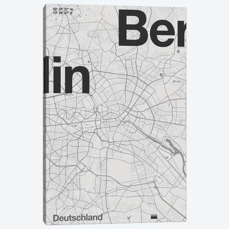 Berlin Map Canvas Print #FLB162} by Florent Bodart Art Print