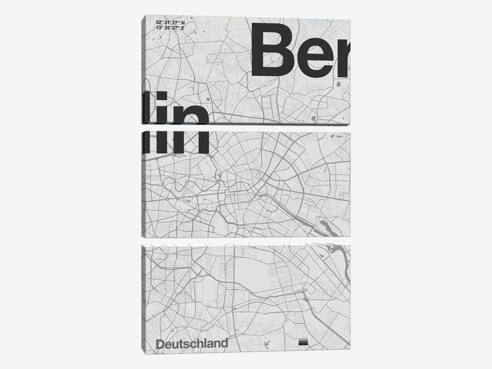 Berlin Map by Florent Bodart 3-piece Art Print