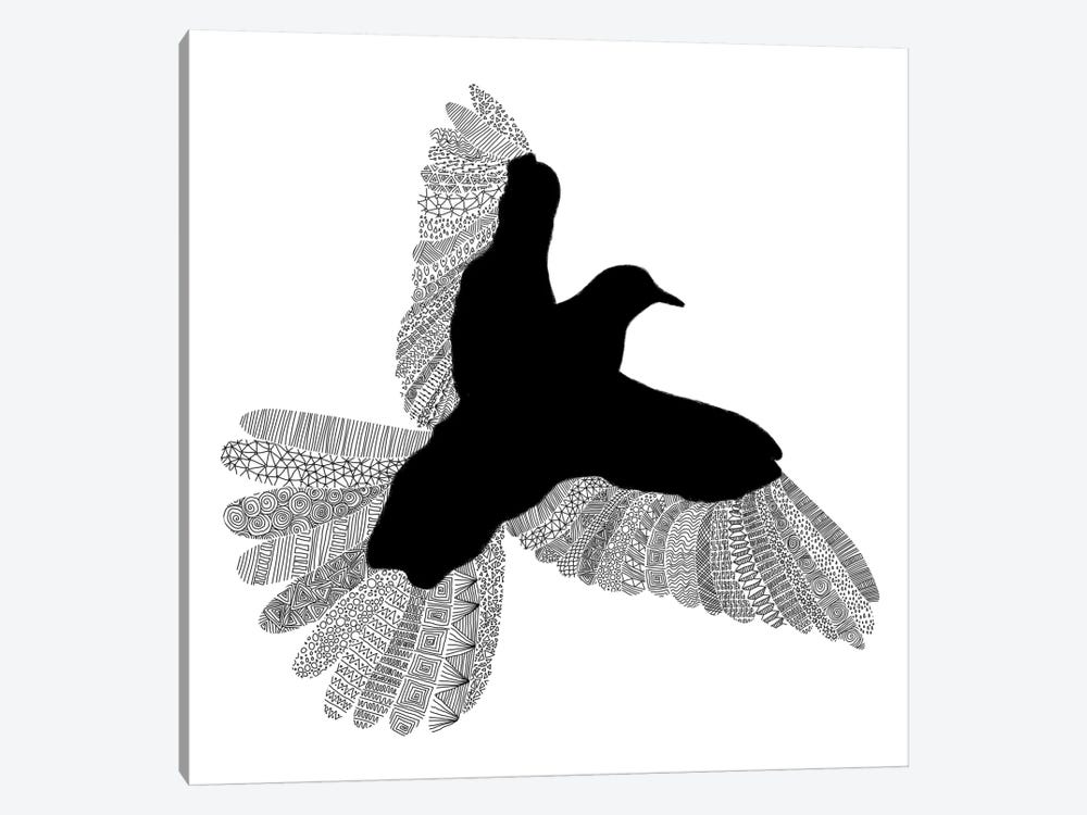 Bird on White by Florent Bodart 1-piece Art Print