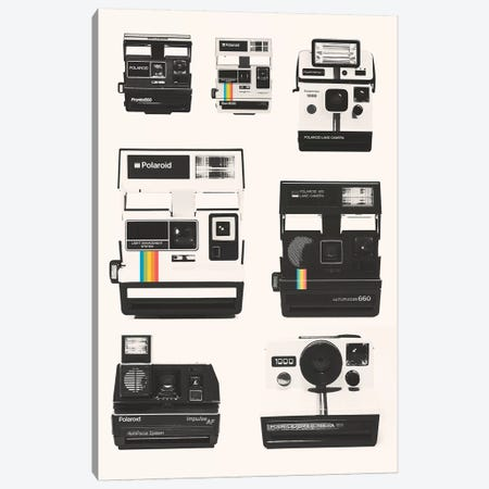 Instant Camera Collection Canvas Print #FLB171} by Florent Bodart Canvas Art