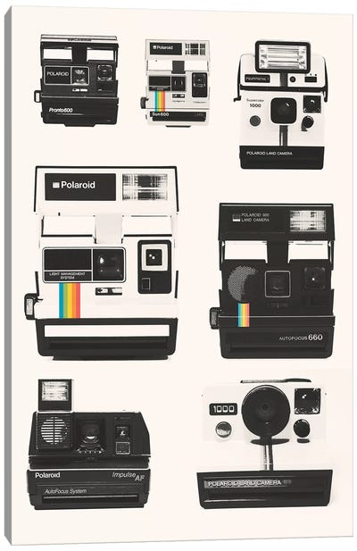 Instant Camera Collection Canvas Art Print