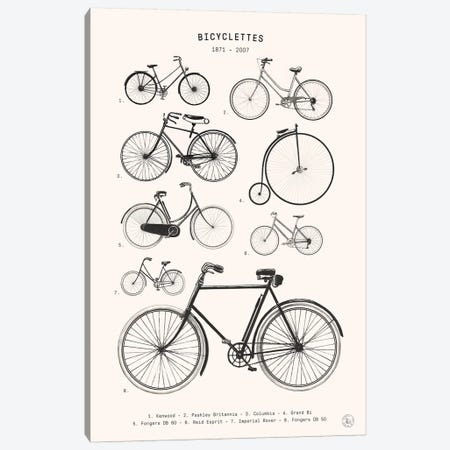 Bicyclettes Canvas Print #FLB172} by Florent Bodart Canvas Art