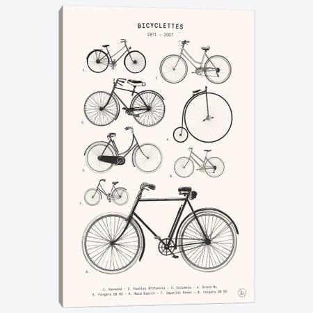 Bicyclettes Canvas Print #FLB172} by Florent Bodart Canvas Art