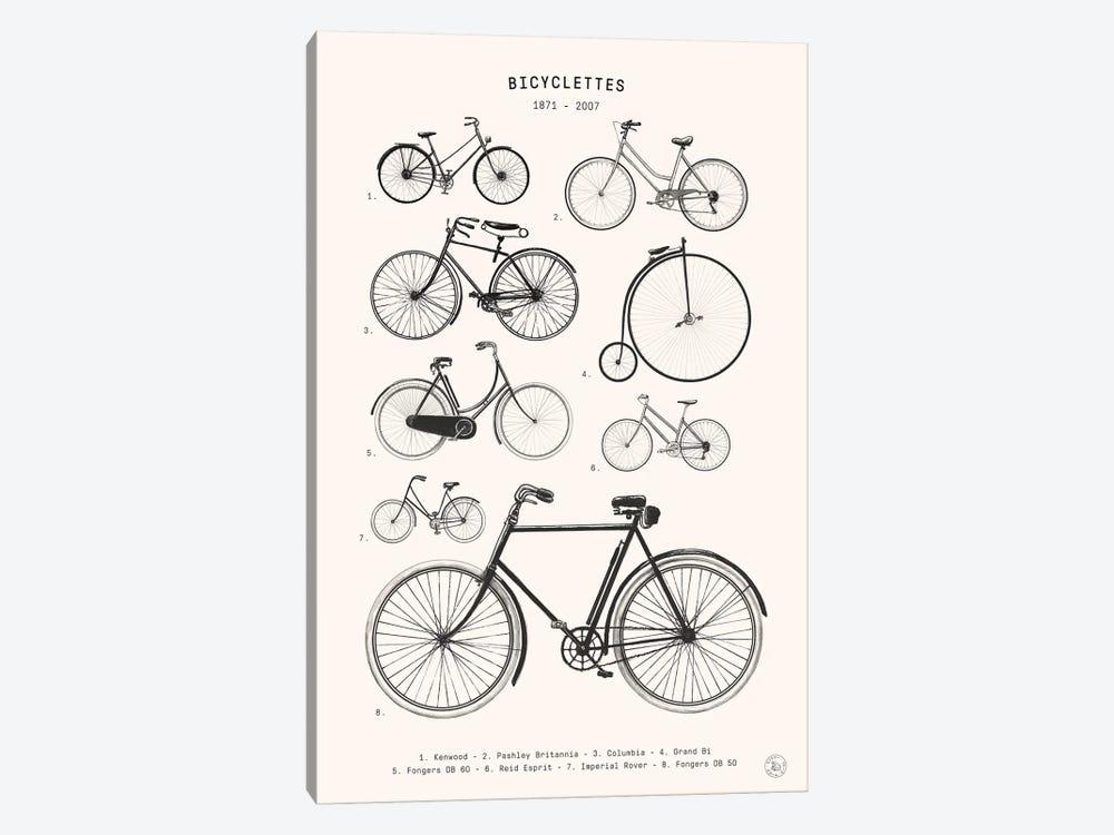 Bicyclettes by Florent Bodart 1-piece Canvas Art
