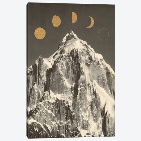 Moon Phases Canvas Print #FLB173} by Florent Bodart Canvas Wall Art