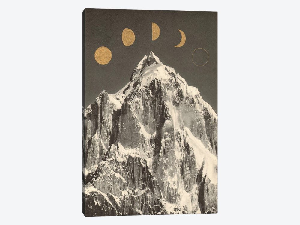 Moon Phases by Florent Bodart 1-piece Canvas Art Print