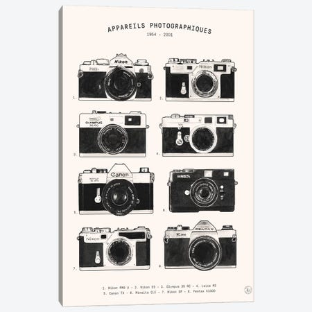 Appareils Photographiques Canvas Print #FLB174} by Florent Bodart Canvas Print