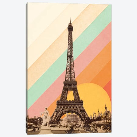 Rainbow Above Eiffel Tower Canvas Print #FLB175} by Florent Bodart Canvas Art Print