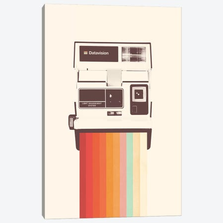 Instant Camera Rainbow Canvas Print #FLB177} by Florent Bodart Art Print