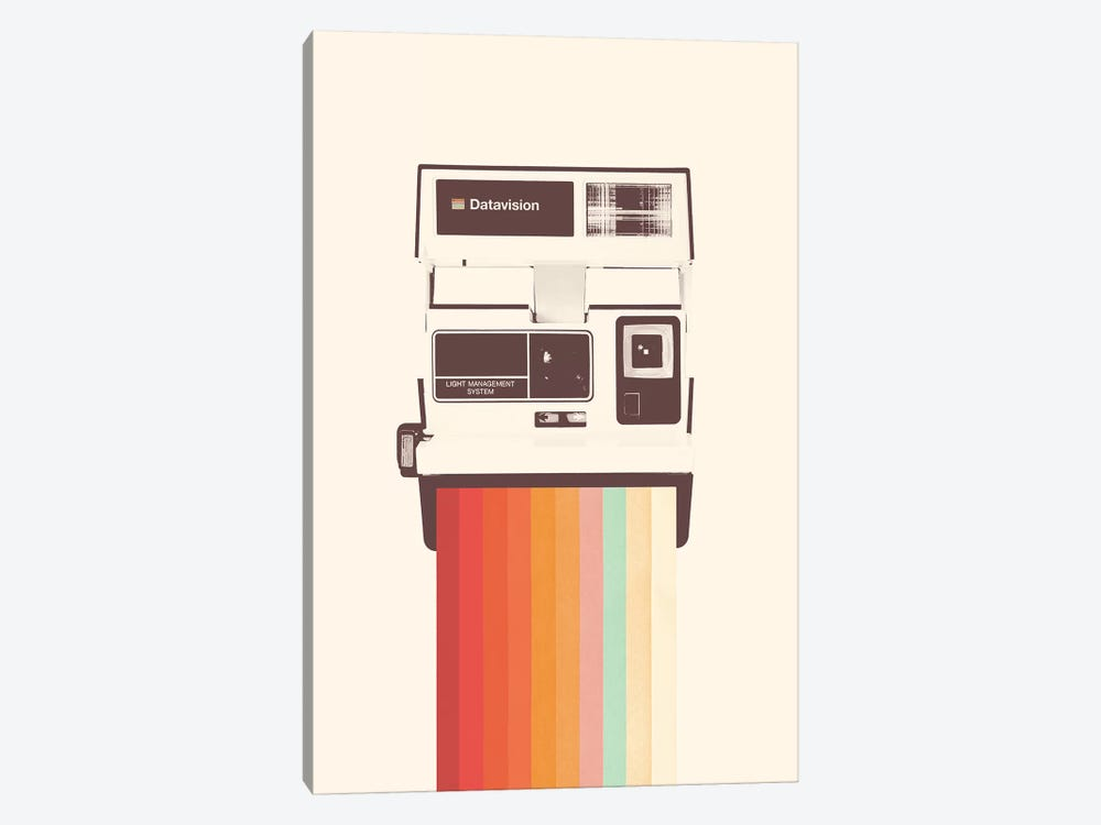 Instant Camera Rainbow by Florent Bodart 1-piece Canvas Art Print