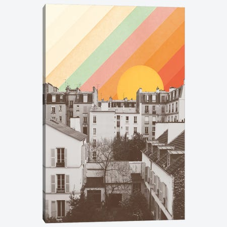 Rainbow Sky Above Paris Canvas Print #FLB179} by Florent Bodart Canvas Wall Art