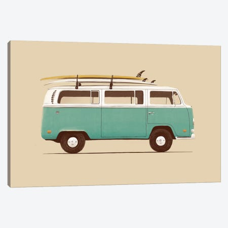 Blue Van Canvas Print #FLB17} by Florent Bodart Canvas Print