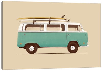 Blue Van Canvas Art Print