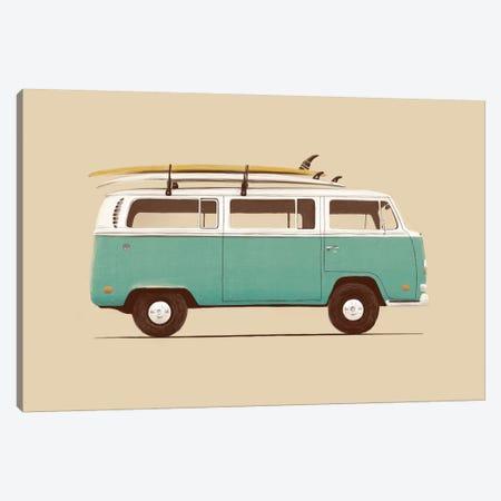Blue Van Canvas Print #FLB17} by Florent Bodart Canvas Print