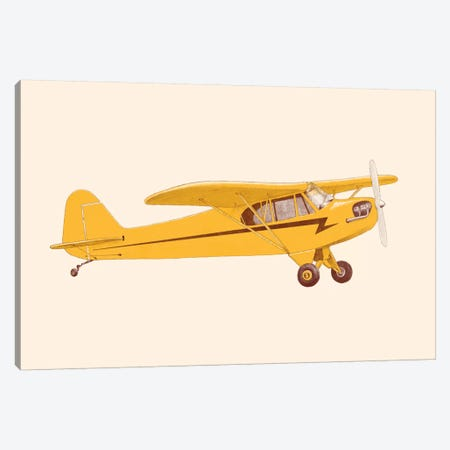Little Yellow Plane Canvas Print #FLB185} by Florent Bodart Canvas Art