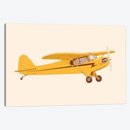 Little Yellow Plane Canvas Print #FLB185} by Florent Bodart Canvas Art