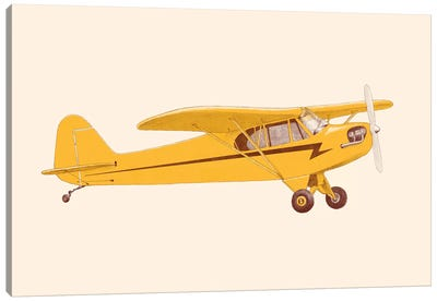 Little Yellow Plane Canvas Art Print
