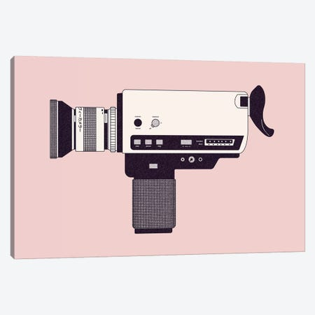 Super 8 Camera Canvas Print #FLB186} by Florent Bodart Canvas Artwork