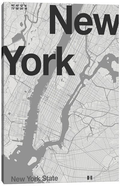 New York - Minimal Map Canvas Art Print