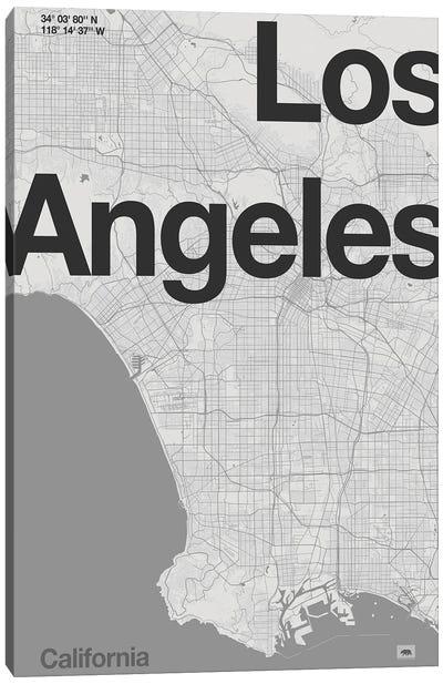 Los Angeles - Minimal Map Canvas Art Print