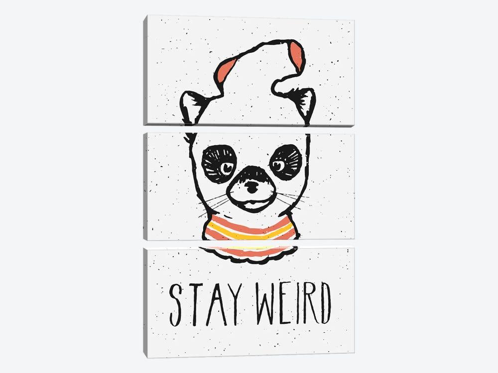 Stay Weird by Florent Bodart 3-piece Canvas Artwork