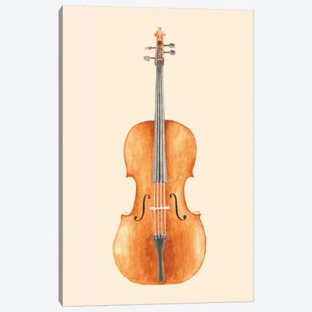 Cello Canvas Print #FLB18} by Florent Bodart Canvas Artwork