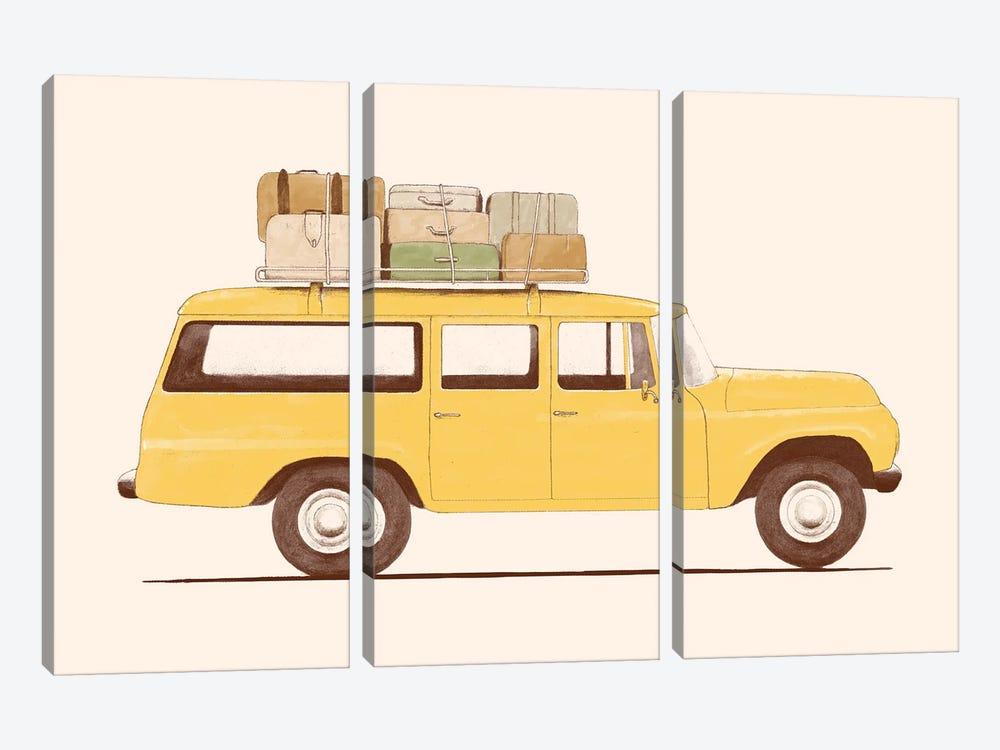 Summer Car by Florent Bodart 3-piece Canvas Wall Art