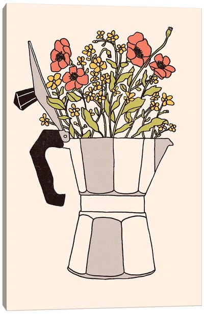 Moka Flowers Canvas Art Print