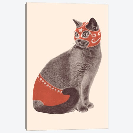 Cat Wrestler Canvas Print #FLB194} by Florent Bodart Canvas Print