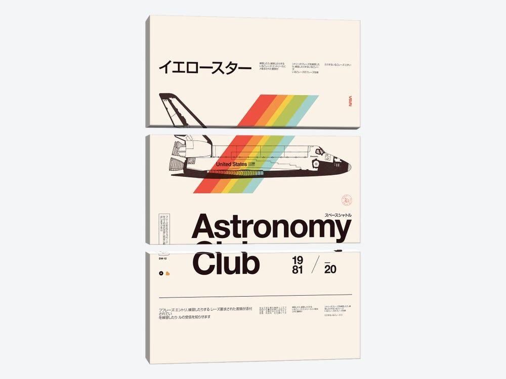 Astronomy Club by Florent Bodart 3-piece Canvas Art Print