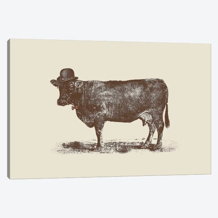 Cow Cow Nut Canvas Print #FLB19} by Florent Bodart Canvas Artwork