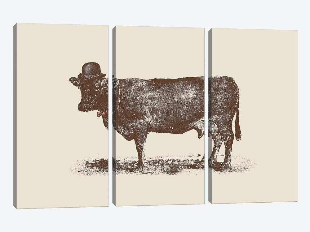 Cow Cow Nut by Florent Bodart 3-piece Canvas Wall Art