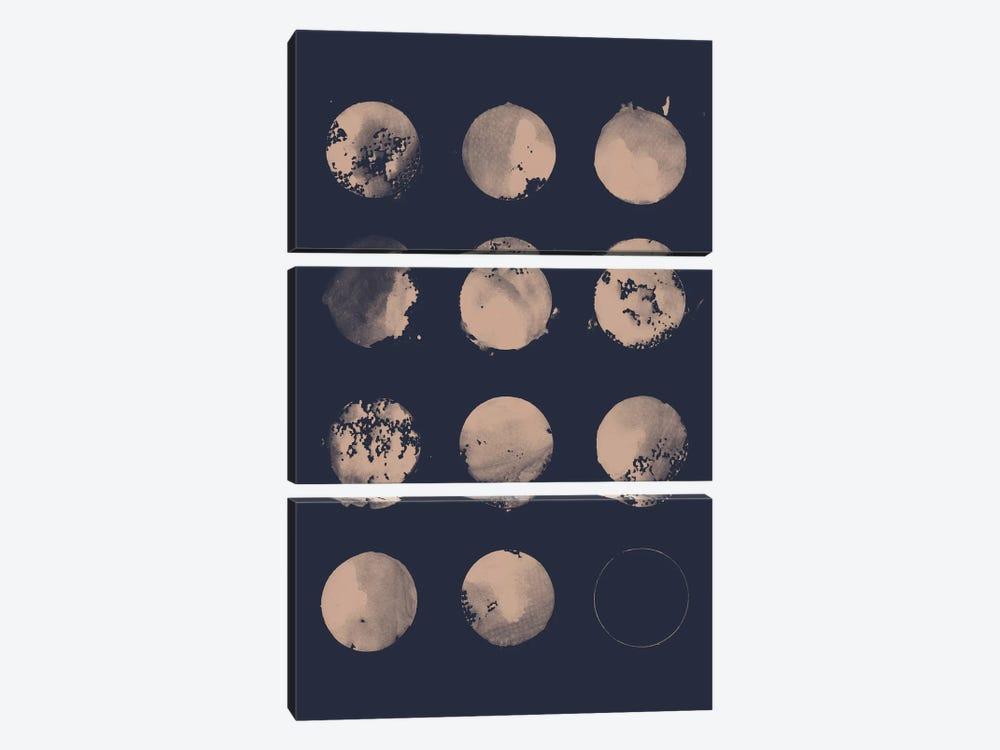 12 Moons by Florent Bodart 3-piece Canvas Art