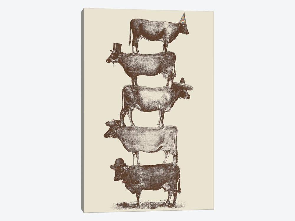Cow Cow Nuts by Florent Bodart 1-piece Canvas Artwork