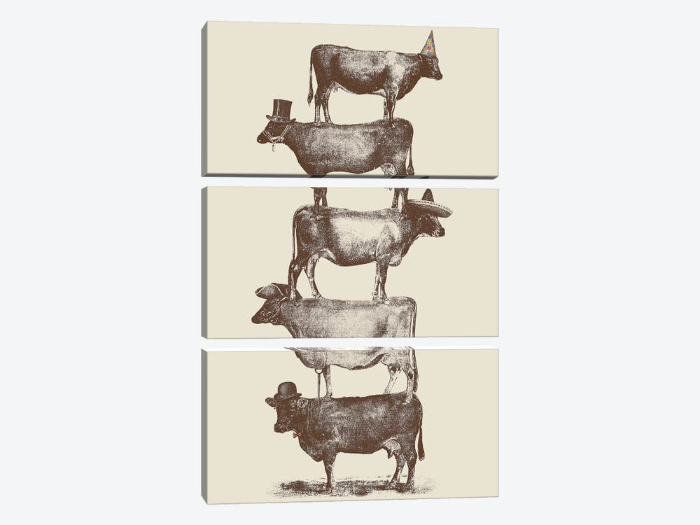 Cow Cow Nuts 3-piece Canvas Artwork
