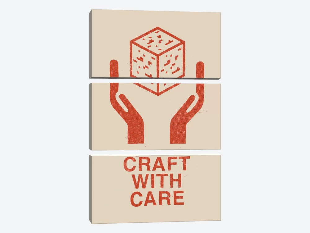 Craft With Care I by Florent Bodart 3-piece Canvas Wall Art