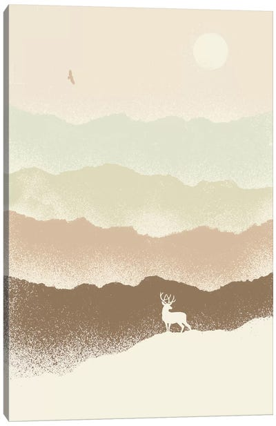Deer Mountain Canvas Art Print