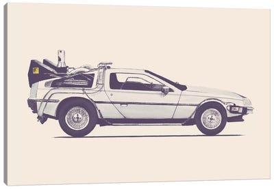 DeLorean - Back To The Future Canvas Art Print