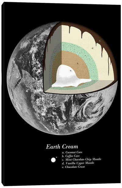 Earth Cream Canvas Print #FLB29