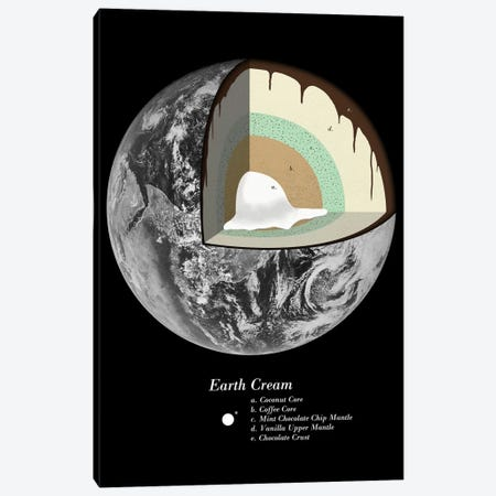 Earth Cream Canvas Print #FLB29} by Florent Bodart Canvas Print