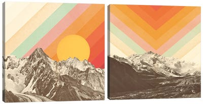 Mountainscape Diptych Canvas Art Print