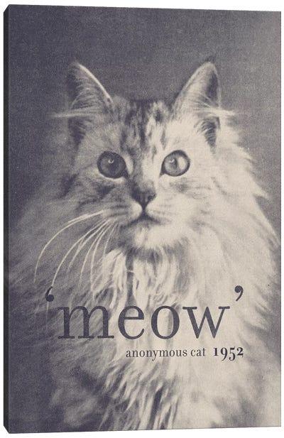 Famous Quotes (Cat) Canvas Art Print
