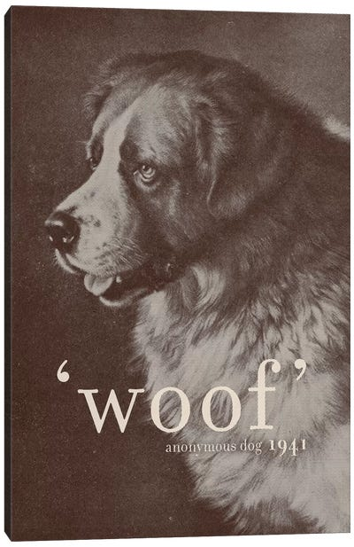 Famous Quotes (Dog) Canvas Art Print