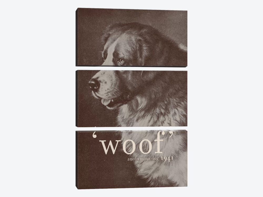Famous Quotes (Dog) by Florent Bodart 3-piece Canvas Artwork