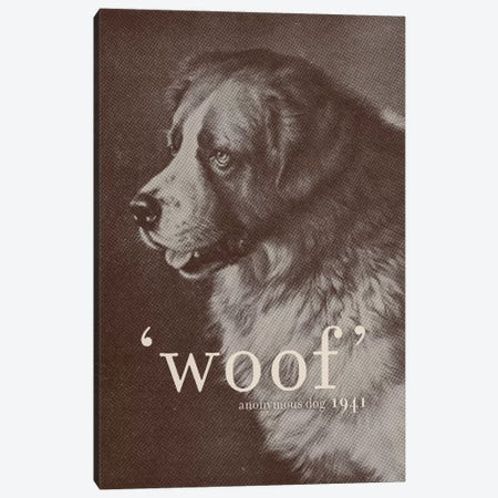 Famous Quotes (Dog) Canvas Print #FLB35} by Florent Bodart Art Print