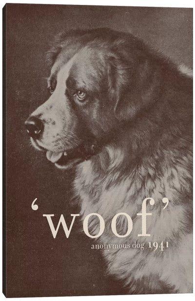Famous Quotes (Dog) Canvas Art Print