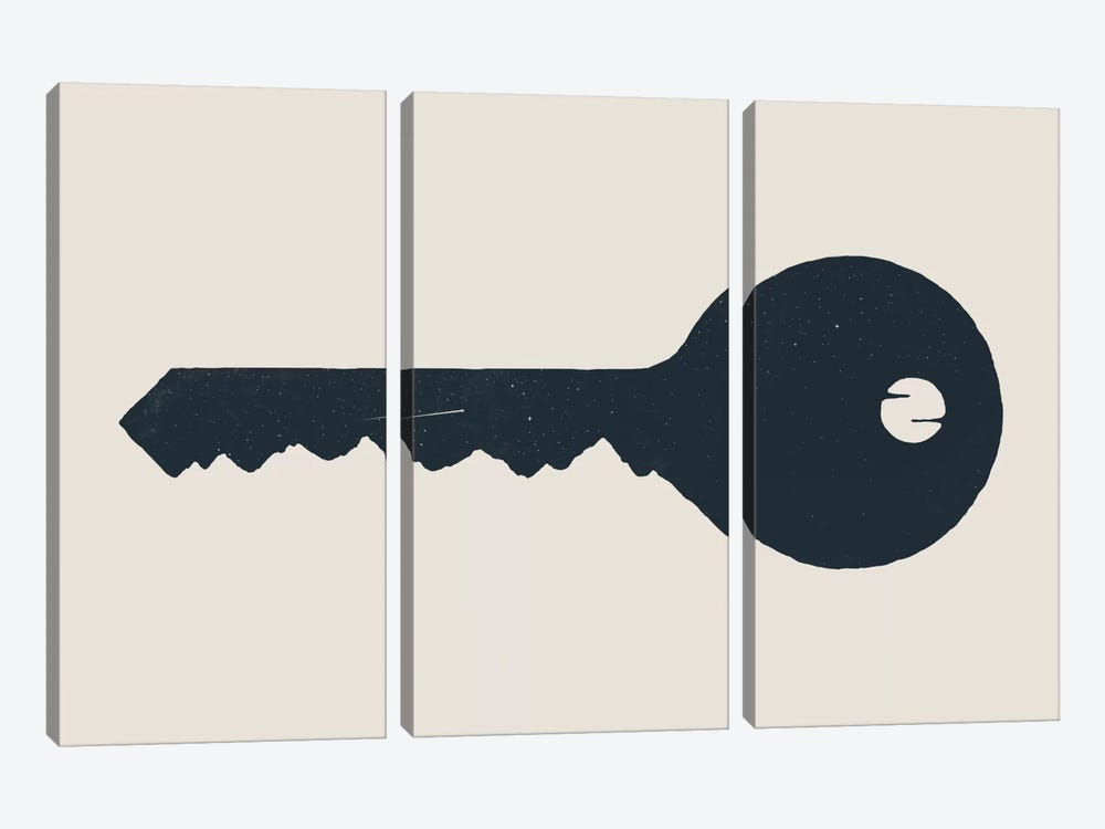 Key To The Mountain by Florent Bodart 3-piece Canvas Print