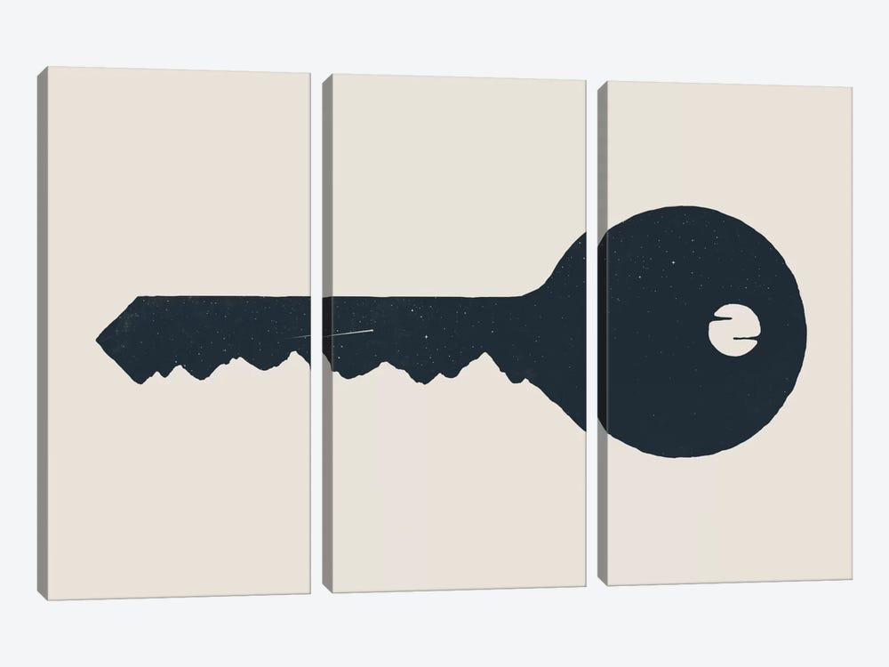 Key To The Mountain by Florent Bodart 3-piece Canvas Print