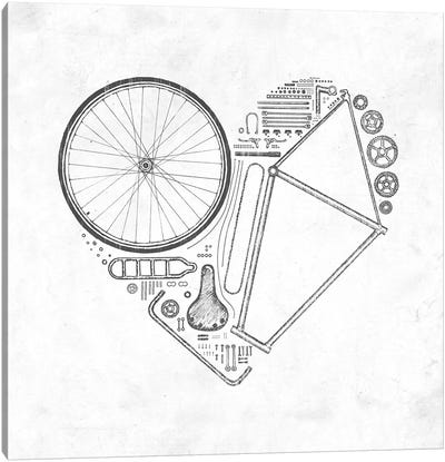 Love Bike Canvas Art Print