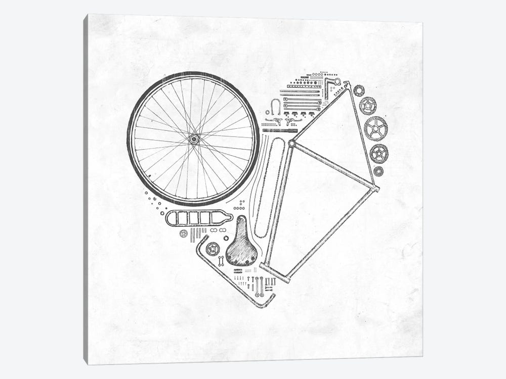 Love Bike by Florent Bodart 1-piece Canvas Print